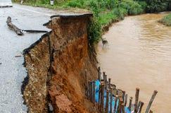 Дороги выгнаны землетрясением Стоковое Изображение