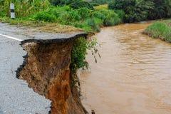 Дороги выгнаны землетрясением Стоковые Фотографии RF