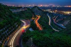 Дороги горного склона замотки Стоковая Фотография RF