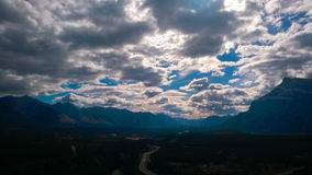 Дороги горы перекрестные Стоковое Изображение