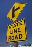 ` Дороги государственной границы ` дорожного знака Стоковые Изображения RF