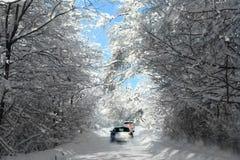 Дороги зимы Стоковая Фотография