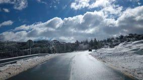 Дороги зимы Стоковые Фото
