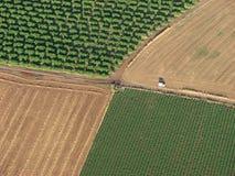 Дороги и поля Стоковое фото RF