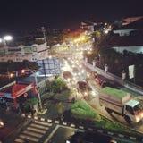 Дороги на Yogyakarta очень толпить стоковые фотографии rf