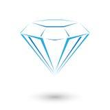 Дорогой голубой диамант Иллюстрация штока
