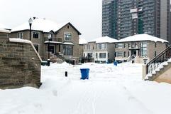 Дорогой дом в снеге, Монреале Стоковое Изображение