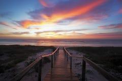 дорожка восхода солнца Стоковые Изображения