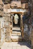 Дорожка в замке кхмера Стоковое Фото