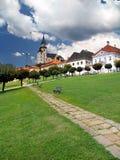 Дорожка и башни замка Kremnica Стоковые Фото