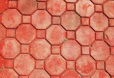 дорожка кирпича восьмиугольная Стоковая Фотография