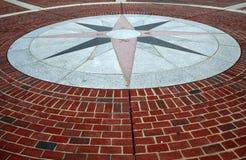 дорожка компаса кирпича Стоковая Фотография RF