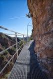 Дорожка металла на склоне холма Путь El Saltillo, Испания стоковые фотографии rf