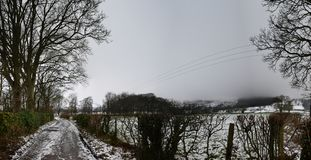 Дорожка на Castleton, пиковом национальном парке района, Великобритании Стоковое фото RF