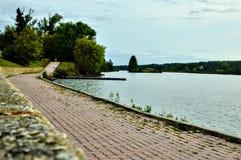 Дорожка озера бортовая в Dryden Онтарио стоковая фотография