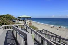 Дорожка павильона пляжа Бока-Ратон Стоковые Фото