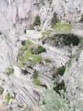 Дорожка 2 скалы Капри Стоковое Изображение RF