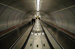 дорожка станции метро Стоковая Фотография