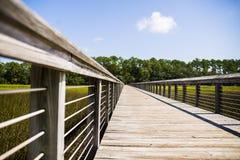 Дорожка Южной Каролины деревянная Стоковая Фотография
