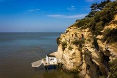 Дорожки через французские seascliffs Стоковая Фотография