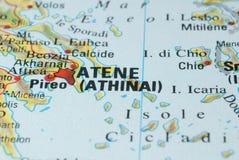 Дорожная карта Афин Стоковая Фотография