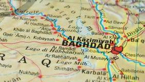 Дорожная карта Багдада Стоковые Изображения RF