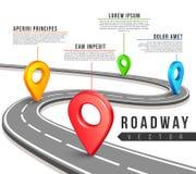 Дорожная карта улицы для дизайна infographics дела вектора Стоковые Фотографии RF