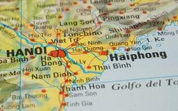 Дорожная карта Ханоя Стоковое Изображение RF
