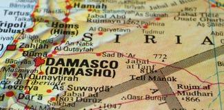 Дорожная карта Damasco Siria Стоковое Изображение RF