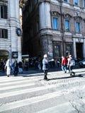 Дорожная полиция в аркаде Venezia в Риме Италии Стоковые Изображения RF