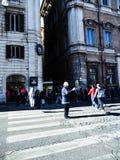 Дорожная полиция в аркаде Venezia в Риме Италии Стоковая Фотография