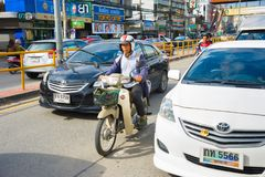 Дорожное движение Таиланда mai chiang Стоковые Фото