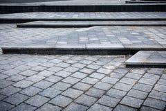 Дорожное покрытие бетонных плит стоковое изображение