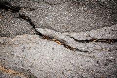 Дорожное покрытие повреждено стоковая фотография rf