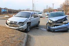 Дорожное происшествие Стоковая Фотография RF
