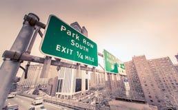 Дорожные знаки в NYC Стоковое Изображение