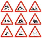 Дорожные знаки используемые в Испании иллюстрация вектора