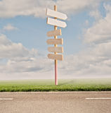 Дорожные знаки направления Стоковое Изображение
