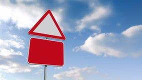Дорожные знаки против голубого неба иллюстрация вектора