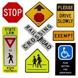 дорожные знаки собрания Стоковая Фотография RF