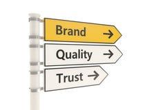 Дорожный знак бренда изолированный на белой предпосылке иллюстрация вектора