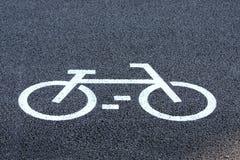 дорожный знак велосипеда стоковое изображение rf