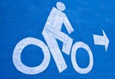 Дорожный знак велосипеда Стоковое Фото