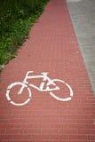 Дорожный знак велосипеда Стоковая Фотография