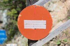 Дорожный знак в Австрии - отсутствие входа Стоковое фото RF
