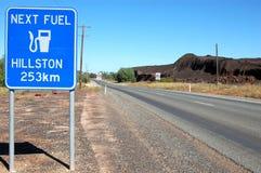 Дорожный знак в захолустье Cobar Австралии Стоковые Фотографии RF