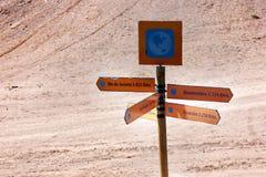 Дорожный знак в середине пустыни Стоковое Изображение RF