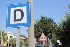 Дорожный знак в Kemer Турции стоковая фотография