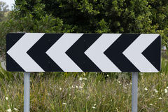 Дорожный знак, левое направление Стоковая Фотография