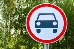 Дорожный знак запрета Законы движения, код шоссе стоковое изображение rf